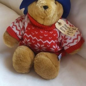 "Paddington Bear Teddy snowflake sweater 14"" Sears"
